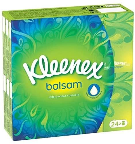 Kleenex Balsam 24 Pack Pocket Tissues £3.24 @ Tesco Dudley