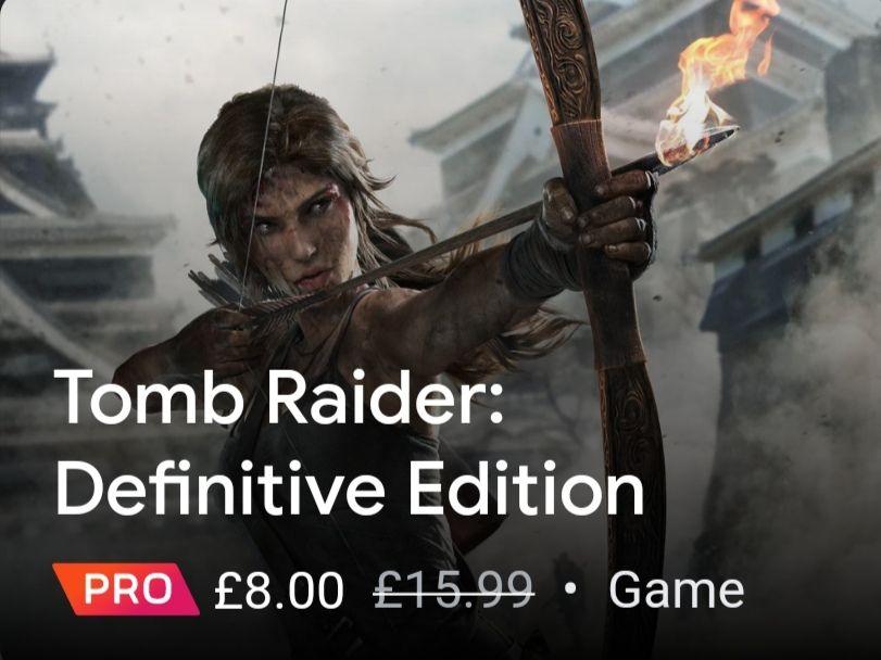 Tomb Raider: Definitive Edition on Stadia Pro subscription £8