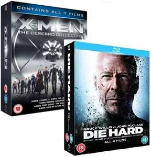 Die Hard Quadrilogy Blu-ray / X-Men Cerebro Collection 7 Films Blu-ray £7.54 each delivered @ rarewaves-outlet ebay