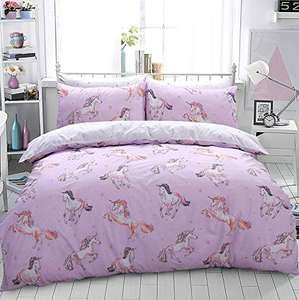 King Size Sleepdown Photographic Pink Unicorn Print Duvet Cover With Pillowcases £7.99 with prime (+£4.49 non-prime) @ Amazon