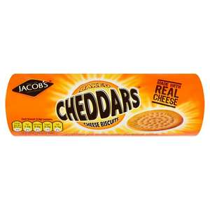 Jacob's Cheddars Cheese Biscuits 150g - 65p @ Sainsbury's