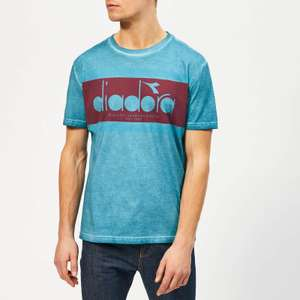 Diadora Men's Spectra Used Look Short Sleeve XS T-Shirt - Blue Pearl Arbor £5 delivered with code @ The Hut