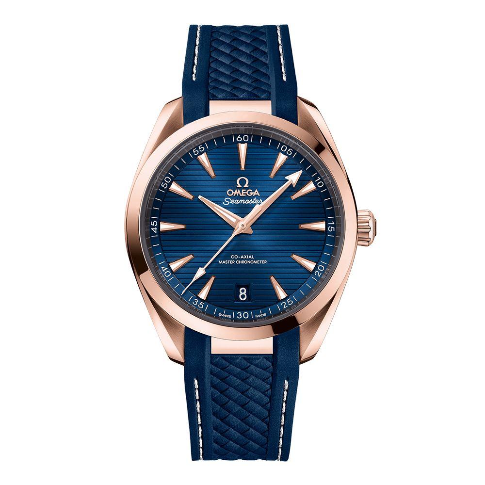 OMEGA Seamaster Aqua Terra Sedna Gold 18ct Blue Master Chronometer 41mm Automatic Men's Watch - £9855 using code @ Hugh Rice
