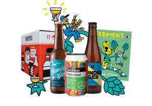 Beer 52 Craft Beer Club - 8 beers, magazine, snack - delivery will cost £5.95