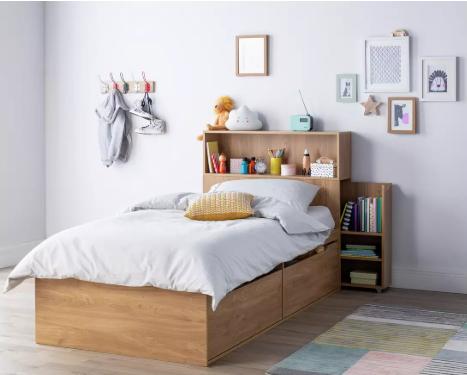 Argos Home Lloyd Kids Cabin Bed, Headboard & Storage - Oak Effect £106.95 delivered @ Argos
