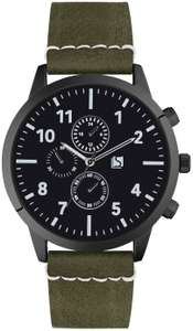 Spirit Men's Chronograph Green Faux Leather Strap Watch £7.99 @ Argos + free Click and Collect / £3.95 delivery