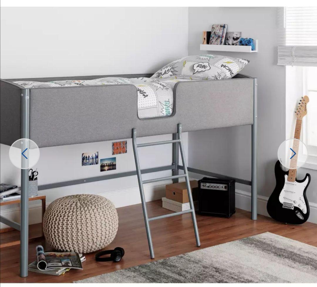 Argos Home Morgan Mid Sleeper Bed Frame - Grey + 2 Year Warranty - £86.95 delivered @ Argos