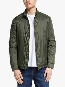 Men's Kin Soft Nylon Funnel Neck Jacket, Khaki & Navy - £26.70 At John Lewis & Partners (+£3.50 del or £2 c&c)