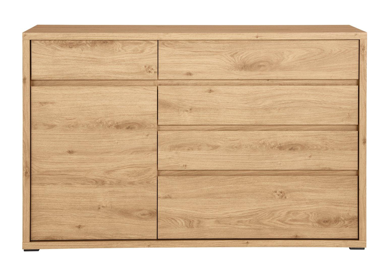 Argos Home Shetland 1 Door 5 Drawer Chest - Oak Effect £62.95 Delivered @ Argos