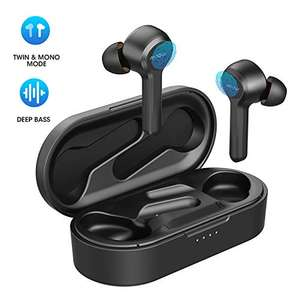 Wireless Earbuds, Mpow Upgraded M9 Bluetooth Headphones - £24.74 using voucher / Sold by Mpow Store and Fulfilled by Amazon.