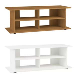 Argos Home 40 Inch TV Unit In White or Oak Effect - £26.64 Using Click & Collect @ Argos