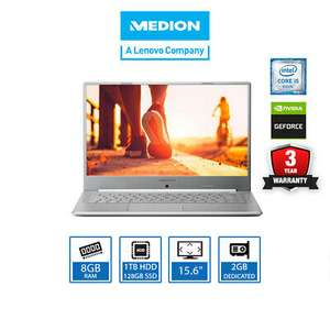 """Medion Akoya P15645 15.6"""" Laptop Core i5-8265U, 8GB RAM, 1TB+128GB SSD for £569.99 delivered @ laptopoutletdirect / eBay"""