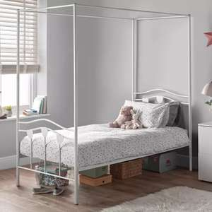Argos Home Hearts Single 4 Poster Metal Bed Frame - White Only £66.95 Delivered @ Argos