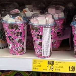 LOL Surprise Candy Cup with Reusable Beaker / Harry Potter Candy Cup - £1.49 each in-store @ B&M Bury Mill Gate