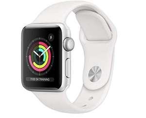 Apple Watch Series 3 (GPS, 38mm) - Silver Aluminum Case with White Sport Band £195 @ Amazon