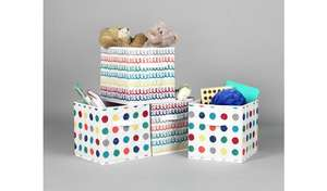 Argos Home Set of 4 Spots & Squiggles Canvas Boxes fore £7.50 click & collect @ Argos