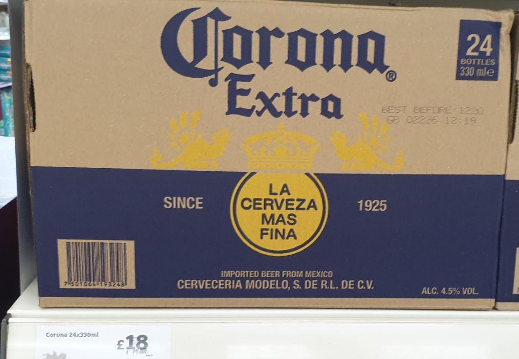Corona beer 24 bottles £18 at Sainsburys West Hove