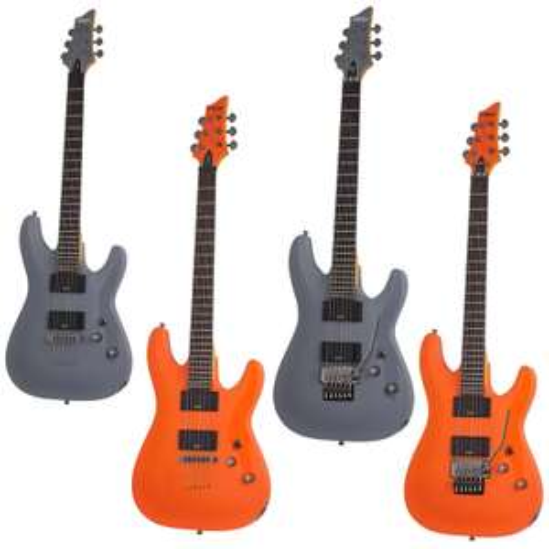Schecter Electric Guitars - Demon-6 Thru Body £329 / Floyd Rose Special Version £369 - Active Pickups / Orange or Gray - @ Andertons