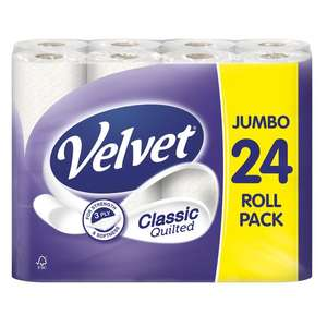 Velvet 24 Toilet Rolls - 3PLY - £6 @ The Food Warehouse (Iceland) Wolverhampton
