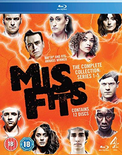 Misfits series 1-5 on 12 Bluray Discs (18 cert) - £23.99 @ Amazon
