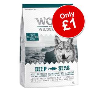 1kg Wolf of Wilderness Dry Dog Food - £1 @ Zooplus - minimum order £10 / delivery from £3.99