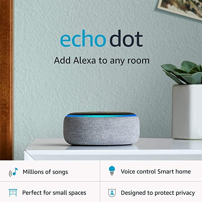AMAZON Echo Dot (3rd Gen) Smart speaker with Alexa - 4 colours £29.99 Amazon