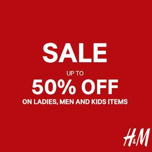 H&M Sale is on Up to 50% off In selected stores and online today!