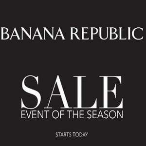Banana republic up to 50% off end of season sale - free store c&c / £4 shipping