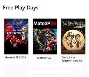 Free Play Days (Xbox One) – eFootball 2020 , MotoGP 20, Don't Starve Together