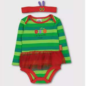 The Very Hungry Caterpillar Green Bodysuit & Headband now £5.00 click & collect @ Argos