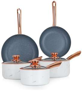 Tower Marble Rose Gold 5 Piece Pan Set - £55 + free Click and Collect / £3.95 delivery @ Argos