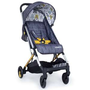 Cosatto Yay Woosh Compact Stroller / pushchair With Raincover - Grey Fika Forest £109.95 with free Delivery From Online4baby