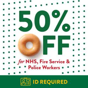 50% OFF FOR CRITICAL SERVICE WORKERS @ Krispy Kreme