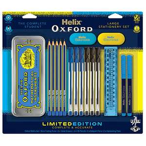 Helix Oxford Stationery kit incuding maths set. £5 + £2.99 p&p (free p&p orders over £30) @ The Works