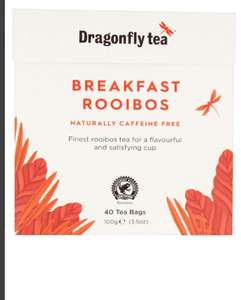 Dragonfly Rooibos 40 Teabags, Pack of 4, 160 Teabags £2.05 + £4.49 @Amazon