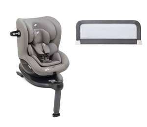 Joie i-Spin 360 i-Size Car Seat & Bed Guard Toddler Safety Bundle - Grey Flannel £252 @ Bournemouth Baby Centre