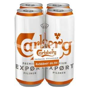4x500 ml cans of Carlsberg Export £3.49 @ B&M Port Talbot Centre