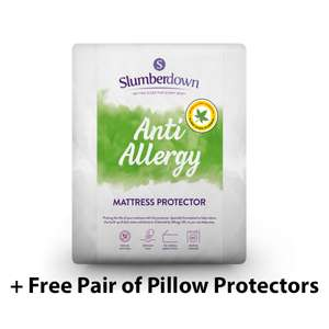 Slumberdown Anti Allergy Mattress Protector + Free Pair of Pillow Protectors - Single £12.99 / Double £14.50 / King £15.50 @ SleepSeeker
