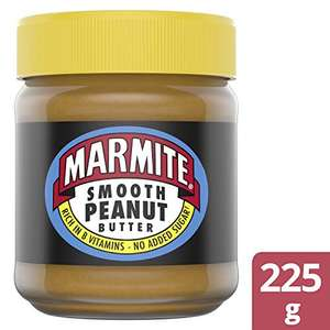 Pack of 8 Marmite Smooth (Rich in B Vitamins, No Added Sugar) Peanut Butter 225g £14.97 (£14.22 with S&S / + £4.49 NP) at Amazon