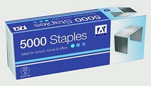 Anker International Stationery 26/6 Staple (Pack of 5000) - £1.25 (Prime) (+£4.49 for Non Prime) Sold & Dispatched from Amazon
