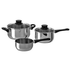 Annons 5 Piece Stainless Steel Cookware Set - £8 (+£3.95 P&P) @ Ikea