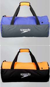 Speedo Duffel Bag Now £17.50 Free delivery black/orange or grey purple @ Speedo