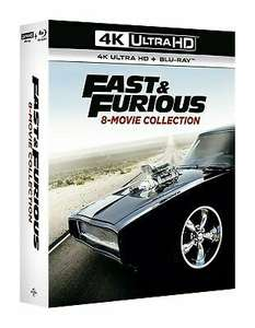 Fast and furious 8 movie collection(17discs) 4k UHD+blu ray boxset - £41.41 with code @ zoom online @ eBay / Zoom
