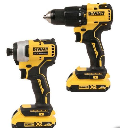 DeWalt DCK2062D2T-GB 18V XR Li-Ion Brushless Combi Drill & Impact Driver Twin Pack 2 x 2.0Ah, TSTAK case £179.98 delivered @ Toolstation