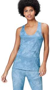 Activewear Blue Women's Printed Sports Vest £5.40 in small or medium DOTD @ Amazon