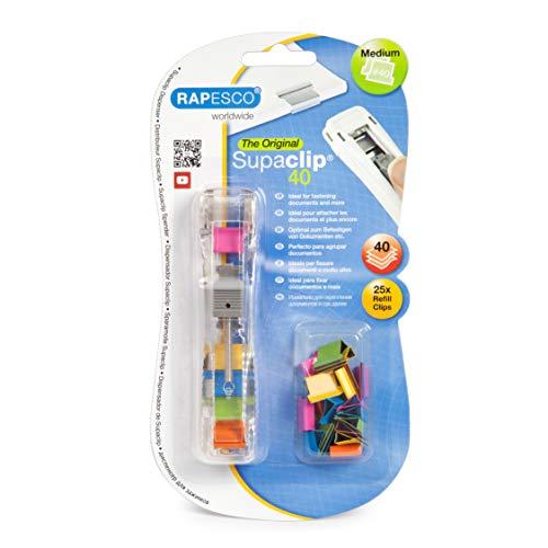 Rapesco Supaclip #40 Dispenser with 25 Multicoloured Refill Clips £1.98 (Prime) + £4.49 (non Prime) at Amazon