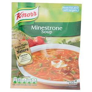 Knorr Minestrone Dry Soup, 9 x 62 g only £1 @ Amazon Pantry (£15 min order, free delivery with code)