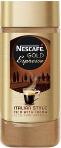 NESCAFÉ GOLD Espresso Instant Coffee Jar, 100 g £1.50 Amazon pantry (min £15 spend, free delivery with code)