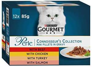 GOURMET Perle Connoisseurs Cat Food Mixed 12 x 85g Only £1 @ Amazon Pantry (£15 min spend / free delivery with code)