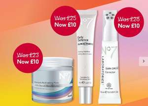 Flash Sale Selected No7 Products £10, Dark Circles Corrector £28 now £10 + stack 3 for 2 + C&C £1.50 Free over £20 @ Boots